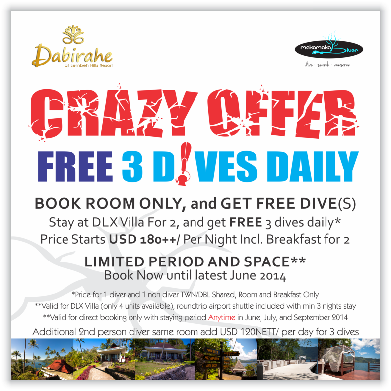 CRAZY DIVE OFFER is Back!
